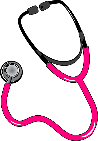 pink black stethoscope clip art at clker com vector clip art rh clker com stethoscope clipart no background stethoscope clipart png