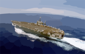 Uss Carl Vinson (cvn 70) Turns Into The Wind At The Beginning Of Flight Operations Clip Art