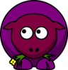 Sheep Purples Two Toned Looking Up To Left Clip Art