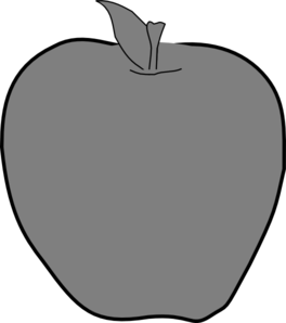 Apple Grey  Clip Art