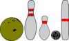 Bowling Pins And Balls Clip Art