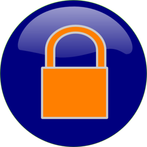 Orange Padlock Clip Art
