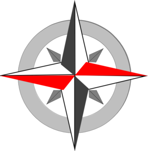 Red Grey Compass Final 4 Clip Art