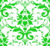 Green Damask Clip Art