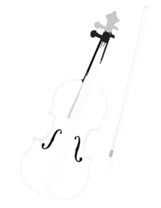 Violin Ink Clip Art