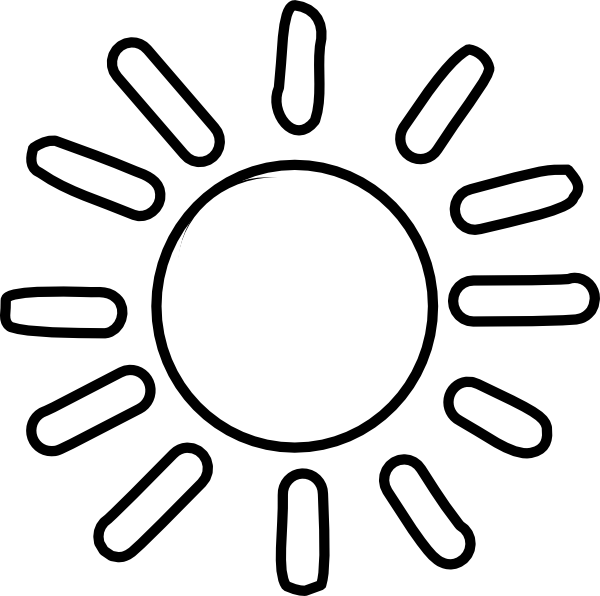 Line Drawing Sun : Sun outline clip art at clker vector online