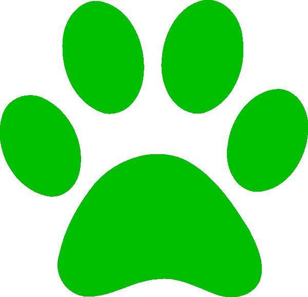 Green Paw Print Clip Art At Clker Com Vector Clip Art