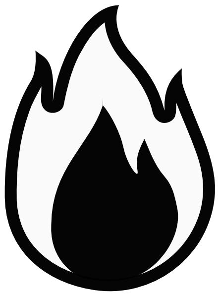 Flame Template Printout Flame 8 clip art - vector clip