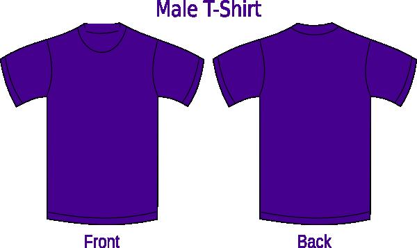 t shirt front and back clip art at clker com vector clip art