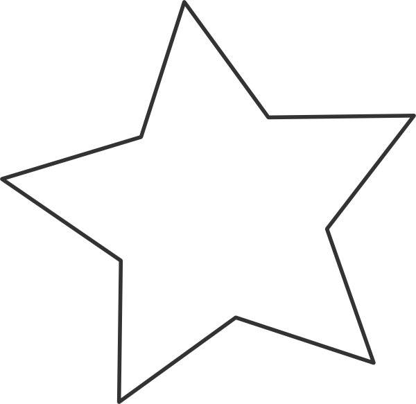 White star black clip art at clker vector