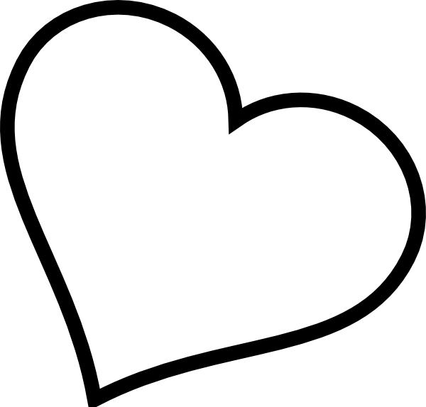 Line Art Heart Outline : Black heart tilted clip art at clker vector