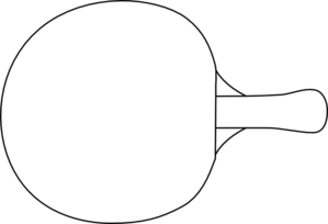 Table Tennis Racket Outline Clip Art at Clker.com - vector clip ...