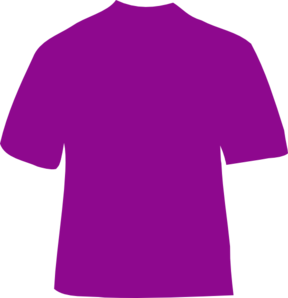 Purple T-shirt Clip Art