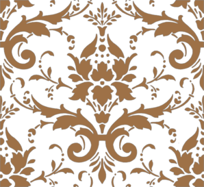 Tan Damask Clip Art