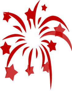 red fireworks clip art at clker com vector clip art online rh clker com fireworks clipart gif fireworks clip art images free