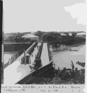 [manila, P.i., 1899:  Looking Across Ayala Bridge ] Clip Art