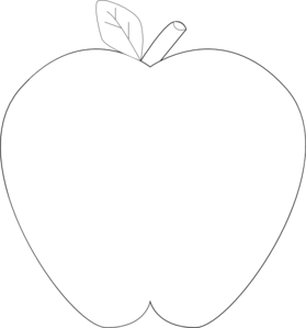 White Black Apple By Assiya Clip Art