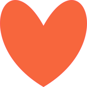Orange Coral Heart Clip Art
