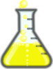Yellowflask/bubbles Clip Art