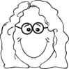 Lady Face Glasses Clip Art