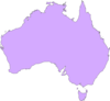 Australia Purple Map Clip Art