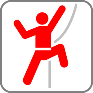 Red Stick Man Climber Clip Art