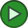 Green Plain Play Button Icon  Clip Art