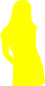 Girl Yellow Silhouette Clip Art