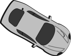 Gray Car - Top View - 330 Clip Art