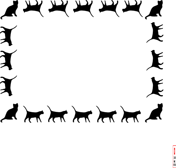 cat border clip art at clker com vector clip art online royalty rh clker com clip art borders and frames clipart borders of crosses