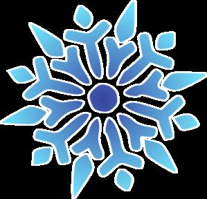 Snowflake elegant. Blue radiant clip art