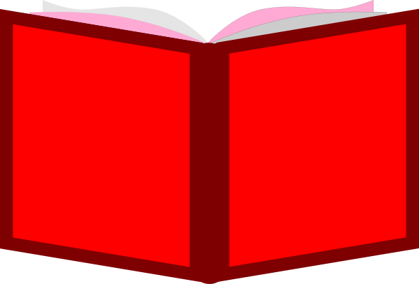 red open book clip art at vector clip art online royalty free public domain
