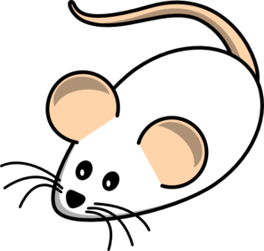 Field Mouse White Clip Art