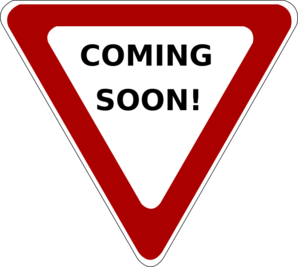 Coming Soon Yield Clip Art