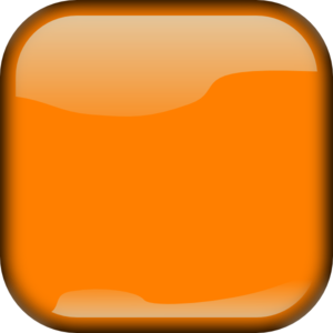 Orange  Locked Square Button Clip Art