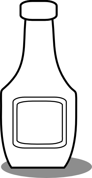 Ketchup Bottle Black And White Clip Art at Clker.com ...