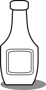 Ketchup Bottle Black And White Clip Art