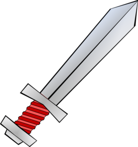 Red Sword Clip Art