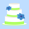 Cake Blue And Green Small Clip Art