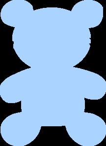 Baby blue. Teddy clip art at