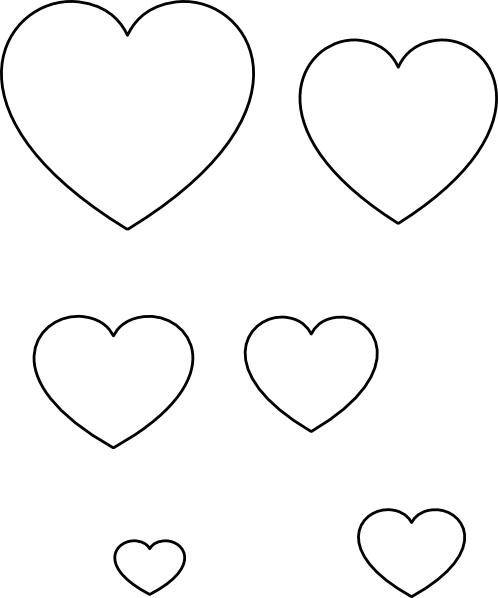 Heart stencil clip art at vector clip art for Small heart template to print