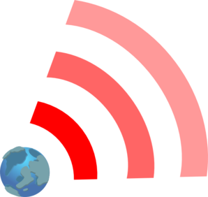 Red Wifi Link With Earth Clip Art