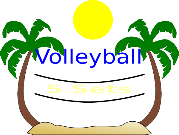 Beach volleyball clipart