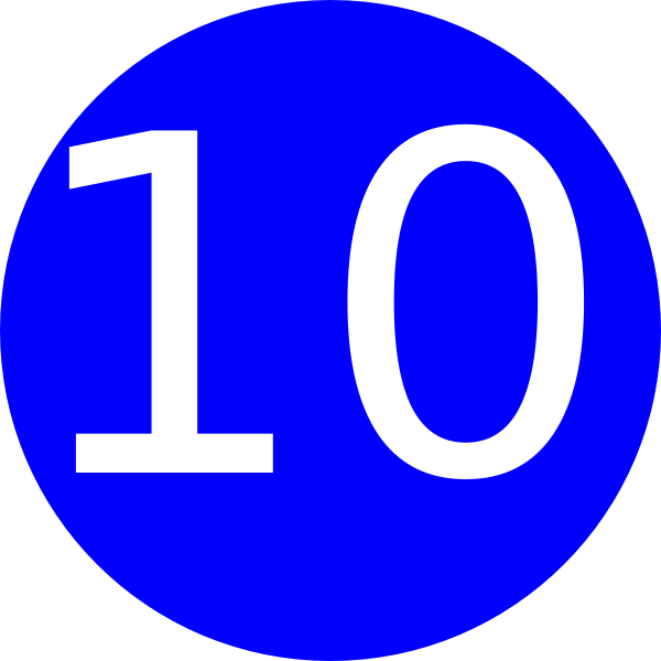 Number 10 Blue Background Clip Art at Clker.com - vector ...