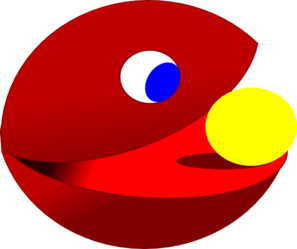 Red Pacman Clip Art