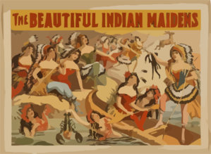 The Beautifil Indian Maidens Clip Art
