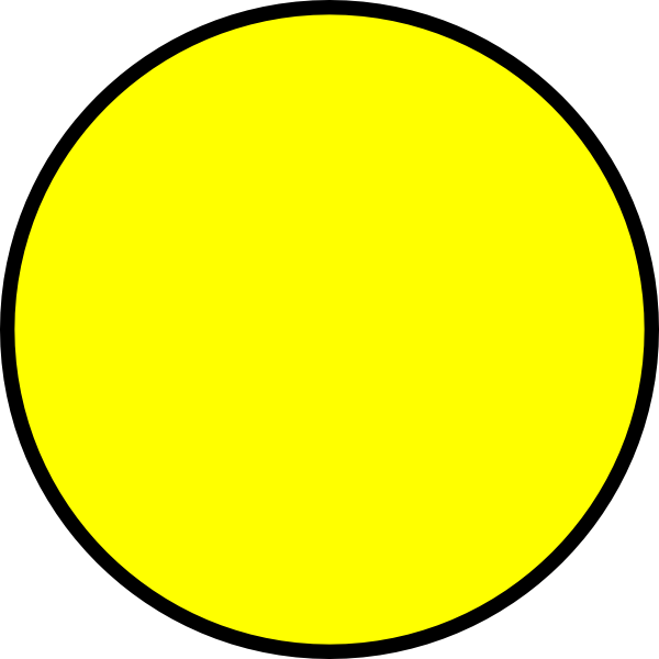 Yellow Circle Clip Art at Clker.com - vector clip art online, royalty ...