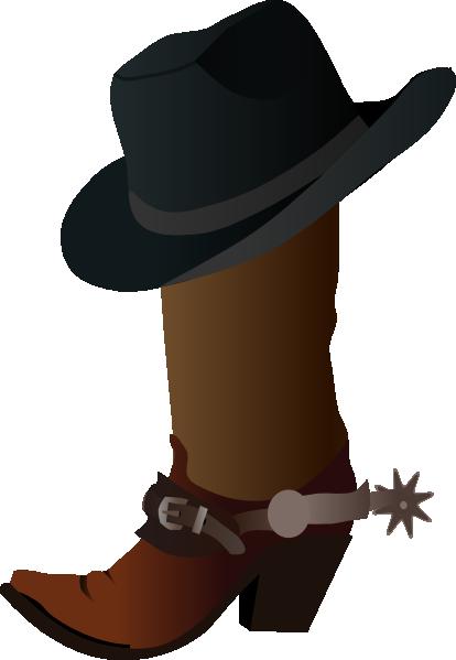 Cowboy Boot And Hat Clip Art at Clker.com - vector clip ...