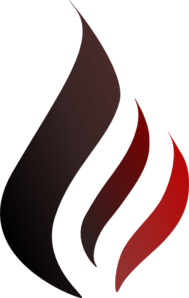 Black To Red Flame Clip Art
