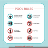 Swimming Pool Rules Clipart Image